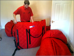 Packing household possessions for removal